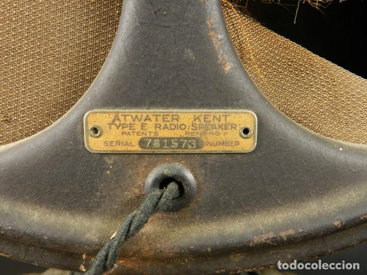 Radios de válvulas: RADIO ATWATER KENT MODELO 20 + SPEAKER Mod.E AÑO 1925 - Foto 8 - 195304227