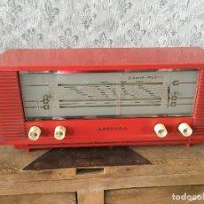 Radios de válvulas: RADIO PHILIPS B3X40U ROJA.AÑO 1964/1965.BÉLGICA. NO ENCIENDE. Lote 196020778