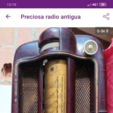 Radios de válvulas: FANTÁSTICA RADIO ANTIGUA. Lote 196599395