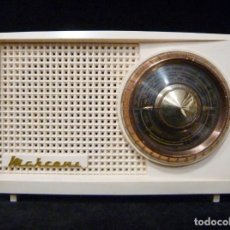 Radios de válvulas: ANTIGUA RADIO MARCONI MOD. UM 137 DE 4 VÁLVULAS. 21,5X14X12 CM. AÑO 1952. FUNCIONANDO. ESCASA. Lote 197161791