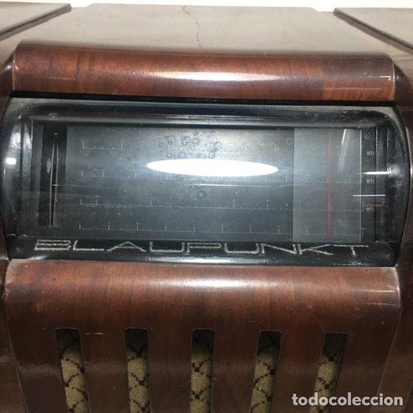Radios de válvulas: Antigua Radio Super 4W6 By Blaupunkt Berlín-Alemania 1934/1935 de gran uso en Alemania durante la Se - Foto 2 - 189736133