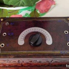 Rádios de válvulas: BONITA Y ORIGINAL RADIO DE GALENA,MUY DECORATIVA.. Lote 199506347