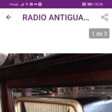 Radios de válvulas: ANTIGUA RADIO AÑOS 40. Lote 201657336