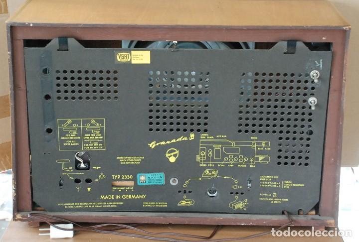 Radios de válvulas: Radio Valvulas Blaupunkt Granada De Luxe Type 2330 .Año 1957 - FUNCIONA - Foto 8 - 201801063