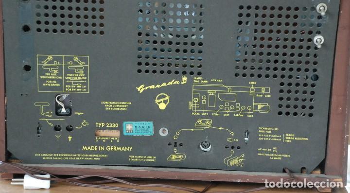 Radios de válvulas: Radio Valvulas Blaupunkt Granada De Luxe Type 2330 .Año 1957 - FUNCIONA - Foto 9 - 201801063