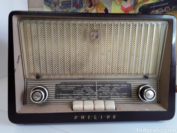Radios de válvulas: Radio antigua philips 34 X 22,5 cm funcionando 125 w - Foto 2 - 203418557