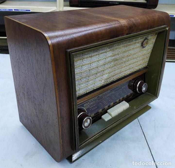 Radios de válvulas: ANTIGUA RADIO HANSUR. FUNCIONANDO. 125 V. ORIGINAL DE ÉPOCA. BUEN ESTADO. - Foto 4 - 205118657