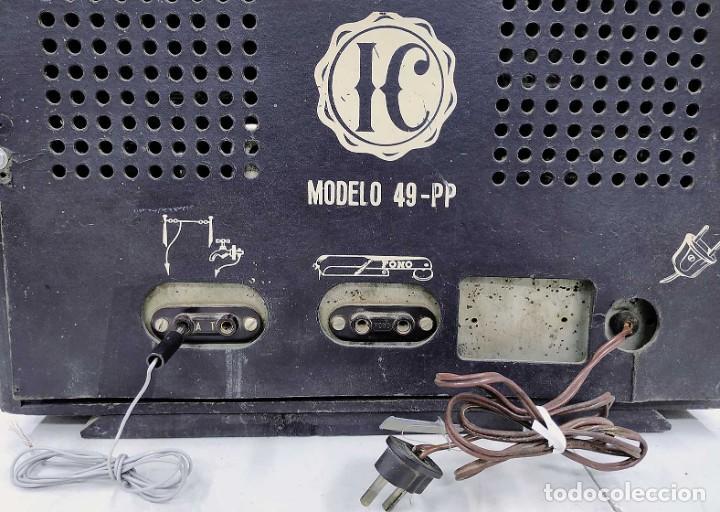 Radios de válvulas: ANTIGUA RADIO HANSUR. FUNCIONANDO. 125 V. ORIGINAL DE ÉPOCA. BUEN ESTADO. - Foto 6 - 205118657