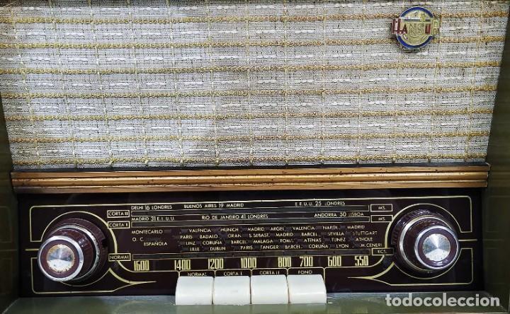 Radios de válvulas: ANTIGUA RADIO HANSUR. FUNCIONANDO. 125 V. ORIGINAL DE ÉPOCA. BUEN ESTADO. - Foto 7 - 205118657
