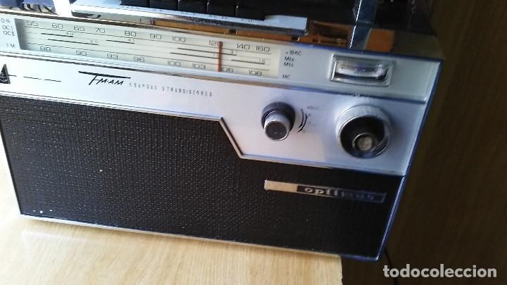 RADIO 4 BANDAS DE TRANSISTORES, MARCA OPTIMUS MODELO FM9 (Radios, Gramófonos, Grabadoras y Otros - Radios de Válvulas)