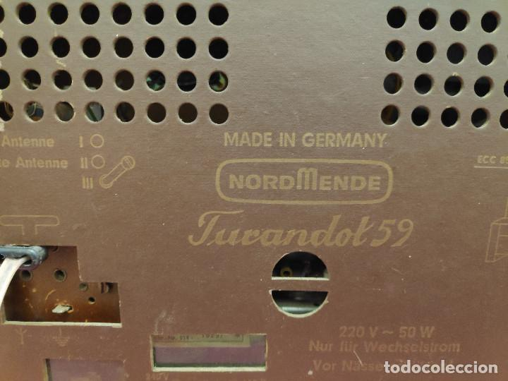 Radios de válvulas: Radio Nordmende Turandot 59 - No funciona - Para restaurar - Foto 8 - 205339596