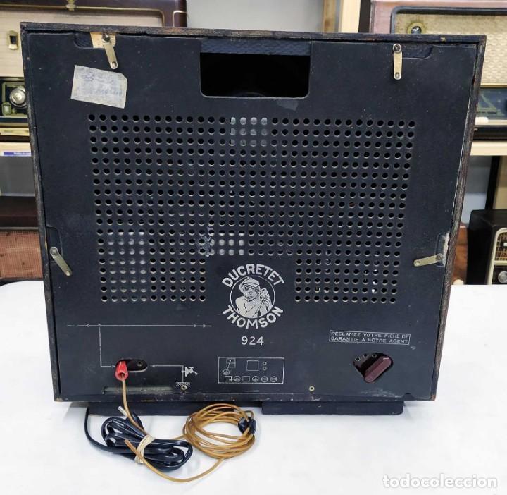 Radios de válvulas: ANTIGUA RADIO THOMSON DUCRETET 924. FUNCIONANDO. 220 V. ORIGINAL DE ÉPOCA. AÑOS 30. - Foto 3 - 206257027