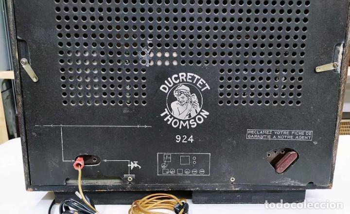 Radios de válvulas: ANTIGUA RADIO THOMSON DUCRETET 924. FUNCIONANDO. 220 V. ORIGINAL DE ÉPOCA. AÑOS 30. - Foto 4 - 206257027