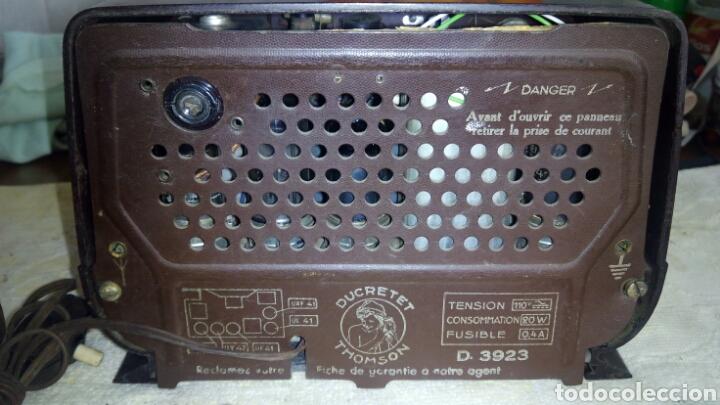 Radios de válvulas: Radio.Mini.Thomson-Ducretet.Md.3923 funciona. - Foto 13 - 206776302