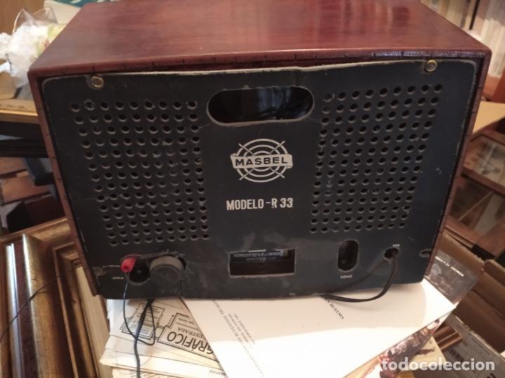 Radios de válvulas: RADIO VÁLVULAS MÁSBEL R33. EN PLENO FUNCIONAMIENTO - Foto 4 - 206853397