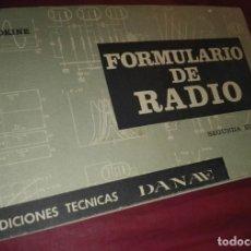 Radios de válvulas: LIBRO FORMULARIO DE RADIO. Lote 207149343