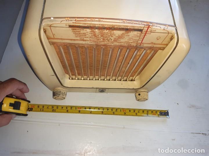 Radios de válvulas: Radio antugua Philips peineta blanco - Foto 2 - 207437231
