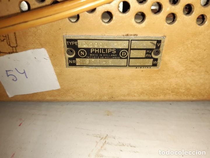 Radios de válvulas: Radio antugua Philips peineta blanco - Foto 4 - 207437231