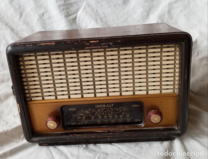 ANTIGUA RADIO DE 5 VALVULAS MARCA INOBALT (Radios, Gramófonos, Grabadoras y Otros - Radios de Válvulas)