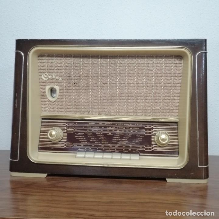 RADIO DE VÁLVULAS ONDINA, AÑOS 50-60, 6 LÁMPARAS. FUNCIONANDO (Radios, Gramófonos, Grabadoras y Otros - Radios de Válvulas)