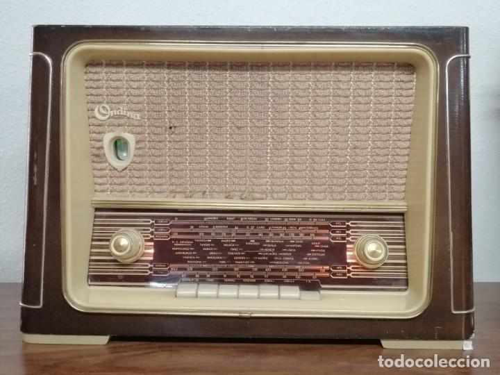 Radios de válvulas: RADIO DE VÁLVULAS Ondina, AÑOS 50-60, 6 LÁMPARAS. FUNCIONANDO - Foto 7 - 208311700