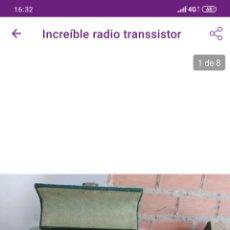 Radios de válvulas: PRECIOSA RADIO MALETÍN. Lote 211583602