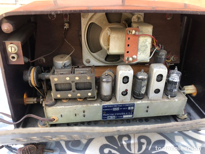 Radios de válvulas: Radio antigua marconi UM-76 más poniendo USMO - Foto 4 - 212780263