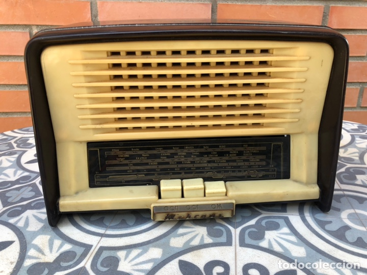 RADIO ANTIGUA MARCONI UM-76 MÁS PONIENDO USMO (Radios, Gramófonos, Grabadoras y Otros - Radios de Válvulas)