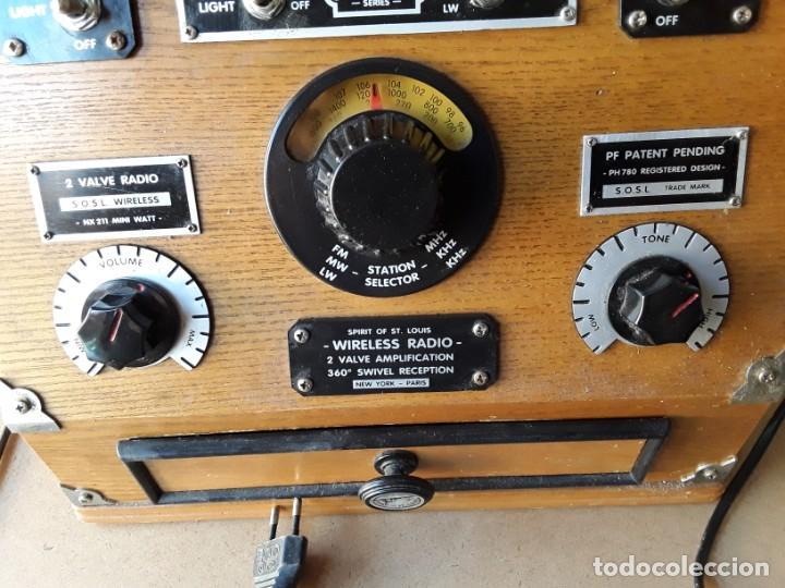 Radios de válvulas: Radio antigua conmemorativa spirit of st. louis - Foto 4 - 213186895