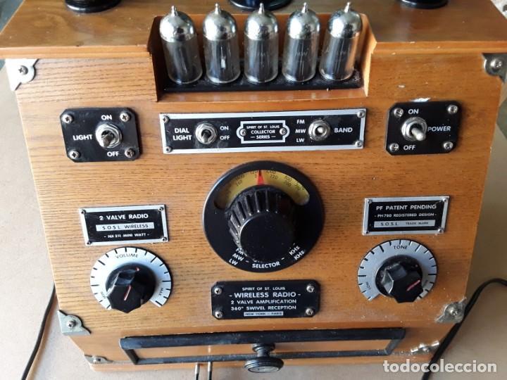Radios de válvulas: Radio antigua conmemorativa spirit of st. louis - Foto 5 - 213186895