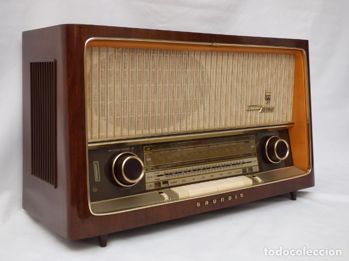 ANTIGUA RADIO DE VÁLVULAS MARCA GRUNDIG, MAGNIFICO ESTADO Y FUNCIONANDO CON GRAN SONIDO (VER VÍDEO) (Radios, Gramófonos, Grabadoras y Otros - Radios de Válvulas)