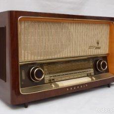 Radios de válvulas: ANTIGUA RADIO DE VÁLVULAS MARCA GRUNDIG, MAGNIFICO ESTADO Y FUNCIONANDO CON GRAN SONIDO (VER VÍDEO). Lote 215429296