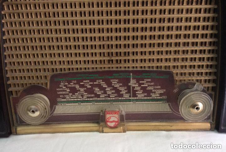 Radios de válvulas: RADIO A VÁLVULAS AÑOS 60 PHILIPS BF 121 U ,Ideal coleccionistas - Foto 2 - 217191153