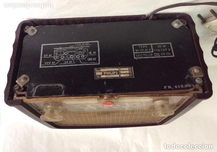 Radios de válvulas: RADIO A VÁLVULAS AÑOS 60 PHILIPS BF 121 U ,Ideal coleccionistas - Foto 4 - 217191153