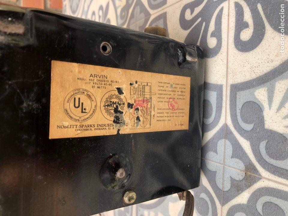 Radios de válvulas: Radio Antigua miniatura Arvin 442. USMO - Foto 5 - 217700375