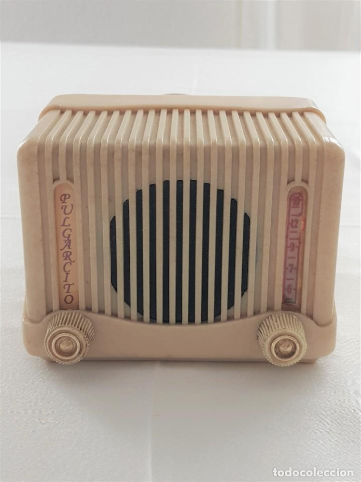 MINI RADIO ESPAÑOLA PULGARCITO DE 3 VALVULAS (Radios, Gramófonos, Grabadoras y Otros - Radios de Válvulas)