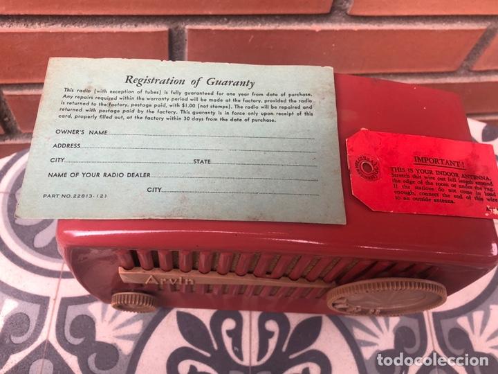 Radios de válvulas: Radio antigua Arvin 840 T caja original tarjeta de garantía. Miniatura USMO - Foto 2 - 217964836