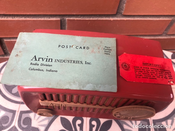 Radios de válvulas: Radio antigua Arvin 840 T caja original tarjeta de garantía. Miniatura USMO - Foto 3 - 217964836
