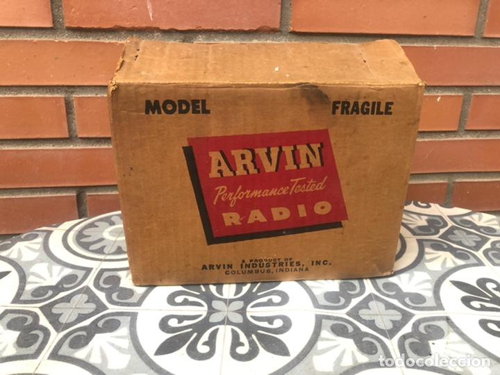 Radios de válvulas: Radio antigua Arvin 840 T caja original tarjeta de garantía. Miniatura USMO - Foto 8 - 217964836