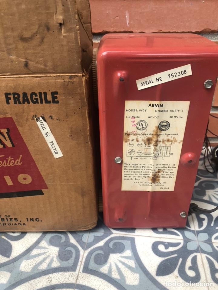 Radios de válvulas: Radio antigua Arvin 840 T caja original tarjeta de garantía. Miniatura USMO - Foto 9 - 217964836