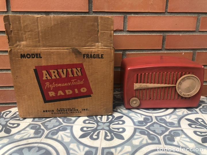 RADIO ANTIGUA ARVIN 840 T CAJA ORIGINAL TARJETA DE GARANTÍA. MINIATURA USMO (Radios, Gramófonos, Grabadoras y Otros - Radios de Válvulas)