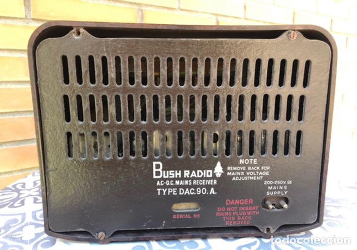 Radios de válvulas: Radio antigua Bush radio EBS3A DAC 90 A 90 A. Más poniendo USMO - Foto 7 - 218348680