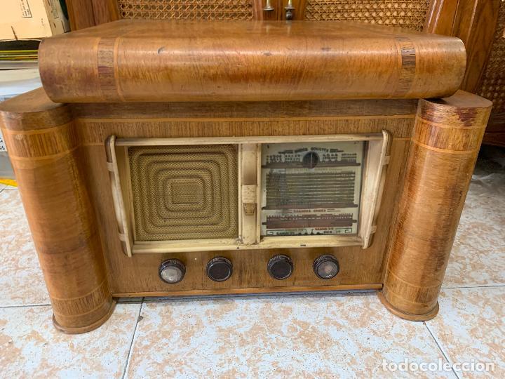 Radios de válvulas: Excepcional radio tocadiscos, ART-DECO, STROBOSCOPE MILLS SIRENAVOX. Rarisima. Pieza de museo - Foto 5 - 220366938