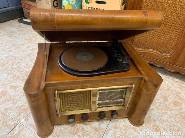 EXCEPCIONAL RADIO TOCADISCOS, ART-DECO, STROBOSCOPE MILLS SIRENAVOX. RARISIMA. PIEZA DE MUSEO (Radios, Gramófonos, Grabadoras y Otros - Radios de Válvulas)