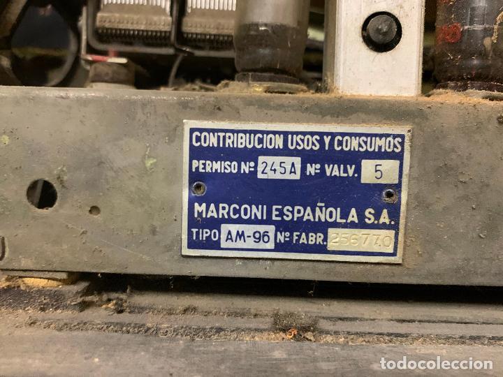 Radios de válvulas: Antigua radio MARCONI, modelo AM-96, ver fotos - Foto 3 - 220369357