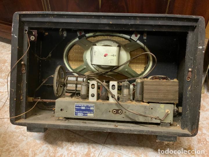 Radios de válvulas: Antigua radio MARCONI, modelo AM-96, ver fotos - Foto 4 - 220369357