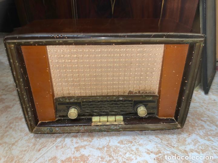Radios de válvulas: Antigua radio MARCONI, modelo AM-96, ver fotos - Foto 5 - 220369357
