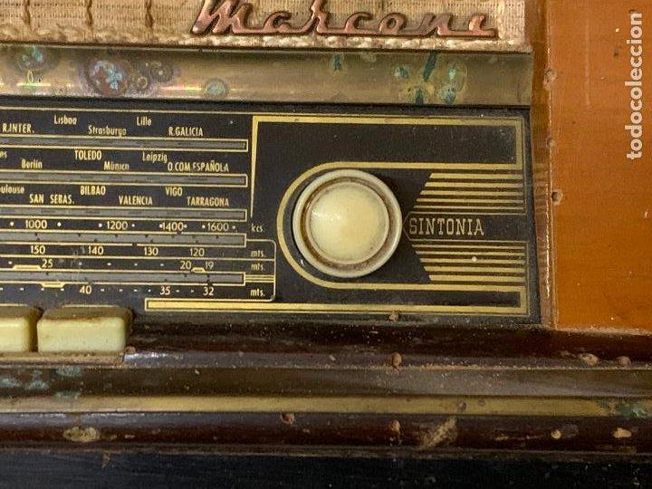 Radios de válvulas: Antigua radio MARCONI, modelo AM-96, ver fotos - Foto 8 - 220369357