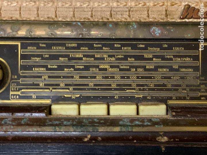 Radios de válvulas: Antigua radio MARCONI, modelo AM-96, ver fotos - Foto 9 - 220369357