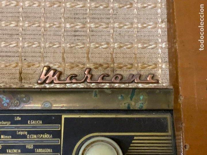 Radios de válvulas: Antigua radio MARCONI, modelo AM-96, ver fotos - Foto 10 - 220369357